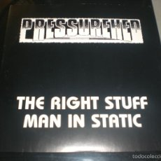 Discos de vinilo: SINGLE PRESSUREHED - THE RIGHT STUFF / MAN IN STATIC - USA 1993 - INDUSTRIAL/SPACE ROCK. Lote 58619963