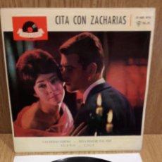 Discos de vinilo: CITA CON ZACHARIAS. LAS HOJAS VERDES. EP / POLYDOR - 1961 / LUJO. ****/****. Lote 58620654
