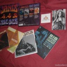 Discos de vinilo: JANIS JOPLIN MOVE OVER - BOX 4 VINILO SINGLES + TATOO + FOTO NUMERADA 0134. Lote 58622762