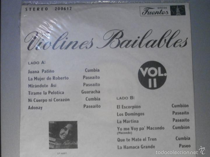 Discos de vinilo: DISCO - VINILO - LP - VIOLINES BAILABLES - VOL. II - DISCOS FUENTES - CUMBIAS, PASEAITOS - - Foto 2 - 58623706
