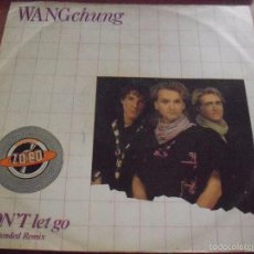 Discos de vinilo: MAXI-SINGLE DE WANG CHUNG. DON'T LET GO (EXTENDED REMIX). EDICION CBS DE 1984 (UK). . Lote 58623966