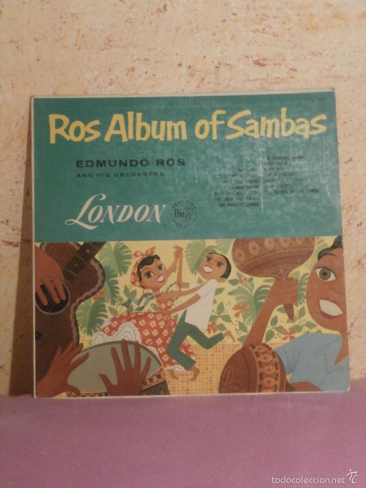 DISCO - VINILO - LP - EDMUNDO ROS Y SU ORQUESTA - ALBUM DE SAMBAS - LONDON - LL.1117 (Música - Discos - LP Vinilo - Orquestas)