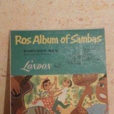 Discos de vinilo: DISCO - VINILO - LP - EDMUNDO ROS Y SU ORQUESTA - ALBUM DE SAMBAS - LONDON - LL.1117. Lote 58626162