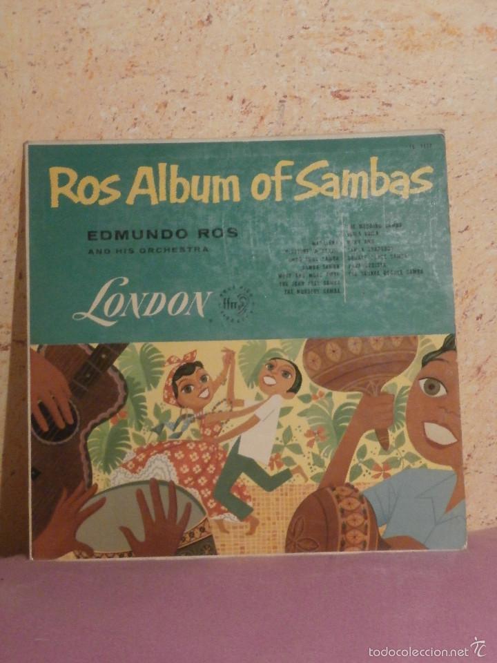 Discos de vinilo: DISCO - VINILO - LP - EDMUNDO ROS Y SU ORQUESTA - ALBUM DE SAMBAS - LONDON - LL.1117 - Foto 2 - 58626162