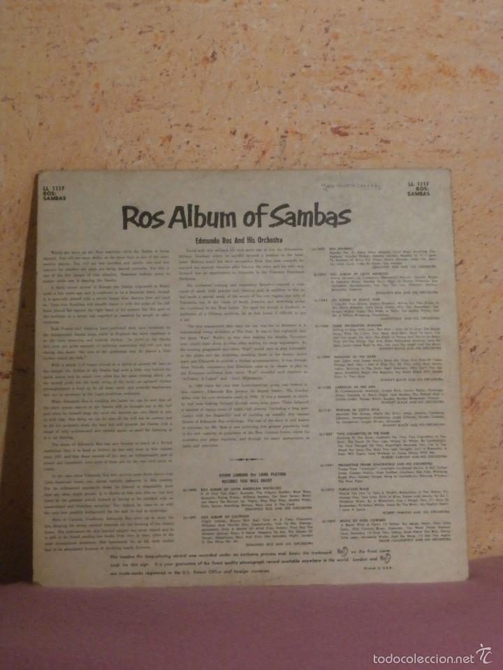 Discos de vinilo: DISCO - VINILO - LP - EDMUNDO ROS Y SU ORQUESTA - ALBUM DE SAMBAS - LONDON - LL.1117 - Foto 3 - 58626162