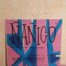 Discos de vinilo: DISCO - VINILO - LP - ÑAÑIGO - RUTH FERNANDEZ - EL ESPIRITU AFRO-CUBANO DE LA MUSICA, MONTILLA, 1955. Lote 58627839