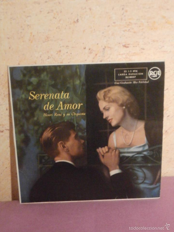 DISCO - VINILO - LP - HENRY RENÉ Y SU ORQUESTA -SERENATA DE AMOR - RCA - AÑOS 50 (Música - Discos - LP Vinilo - Orquestas)