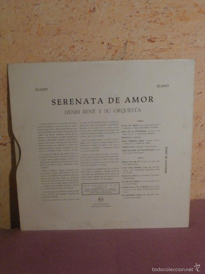 Discos de vinilo: DISCO - VINILO - LP - HENRY RENÉ Y SU ORQUESTA -SERENATA DE AMOR - RCA - AÑOS 50 - Foto 2 - 58628230