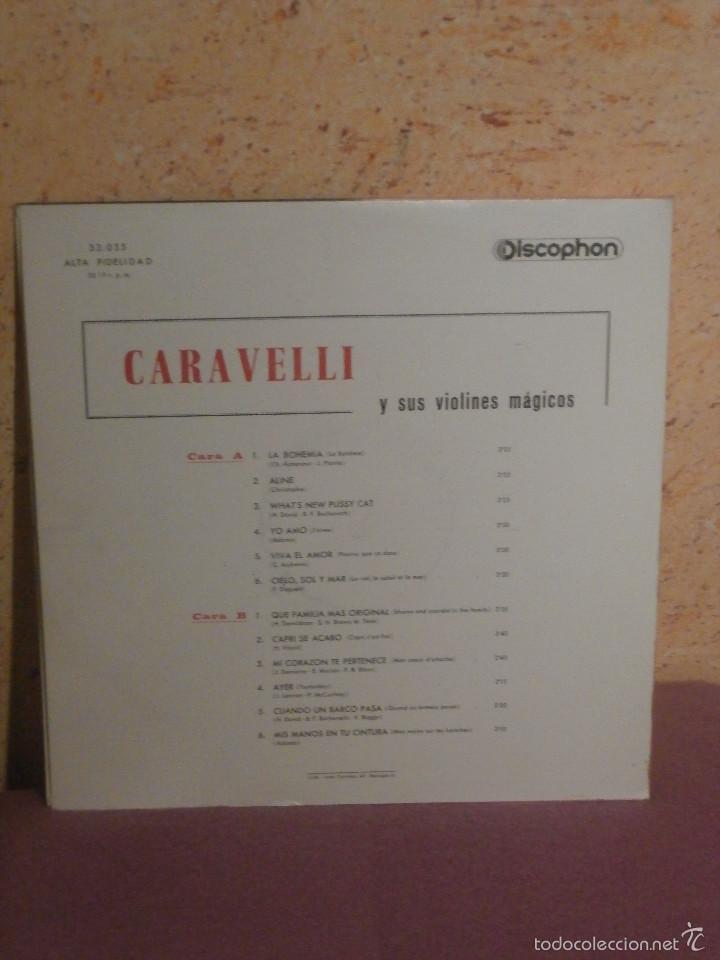 Discos de vinilo: DISCO - VINILO - LP - CARAVELLI JAIME - Y SUS VIOLINES MÁGICOS - DISCOPHON - AÑO 1965 - Foto 2 - 58628638