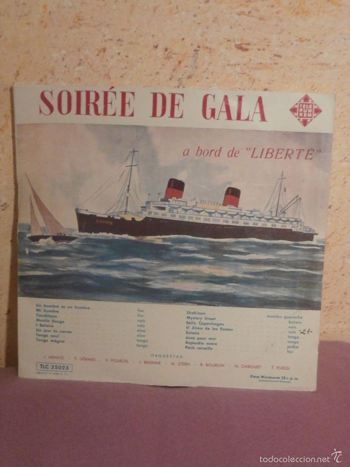DISCO - VINILO - LP - VELADA DE GALA A BORDO DEL LIBERTÉ - TELEFUNKEN - AÑOS 1950 (Música - Discos - LP Vinilo - Orquestas)