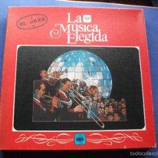 Discos de vinilo: LA MUSICA ELEGIDA / EL JAZZ / CAJA CON CUATRO LP´S Y LIBRO 94 PAGINAS CON FOTOS COMO NUEVO¡¡ PROMO. Lote 72888518