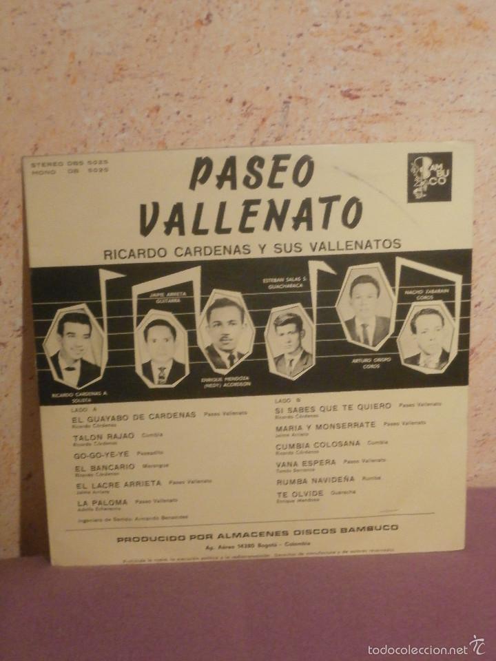 Discos de vinilo: DISCO - VINILO - LP - PASEO VALLENATO - RICARDO CARDENAS Y SUS VALLENATOS - BAMBUCO - STEREO - 50S - Foto 2 - 58631971