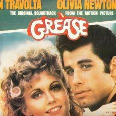 Discos de vinilo: GREASE - JOHN TRAVOLTA - OLIVIA NEWTON JOHN - DOBLE ALBUM. Lote 58633570