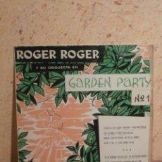 Discos de vinilo: DISCO - VINILO - LP - ROGER ROGER - GARDEPARTY Nº 1 - GEORGES JOUVIN - VEGA HISPAVOX - AÑOS 50´S. Lote 58638189