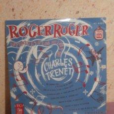 Discos de vinilo: DISCO - VINILO - LP - ROGER ROGER - CHARLES TRENET - GEORGES JOUVIN - VEGA HISPAVOX - AÑOS 50´S. Lote 58638281