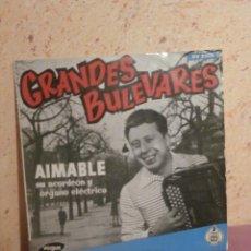 Discos de vinilo: DISCO - VINILO - LP - AIMABLE - SU ACORDEON Y ORGANO - GRANDES BULEVARES - VOGUE HISPAVOX, AÑOS 50´S. Lote 58638345