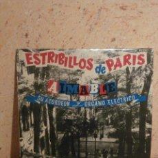 Discos de vinilo: DISCO - VINILO - LP - AIMABLE - SU ACORDEON Y ORGANO - ESTRIBILLOS PARIS - VOGUE HISPAVOX, AÑOS 50´S. Lote 58638370