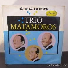 Discos de vinilo: TRIO MATAMOROS CIRO CUETO Y MIGUEL BOLERO SON CONGA GUARACHA RUMBA Y MAS 1987 COLOMBIA LP Y1 VG. Lote 58638581