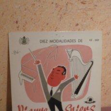 Discos de vinilo: DISCO - VINILO - LP - DIEZ MODALIDADES - HARPA Y PIANO - PIERRE SPIERS - TELEFUNKEN - AÑOS 50´S. Lote 58638644
