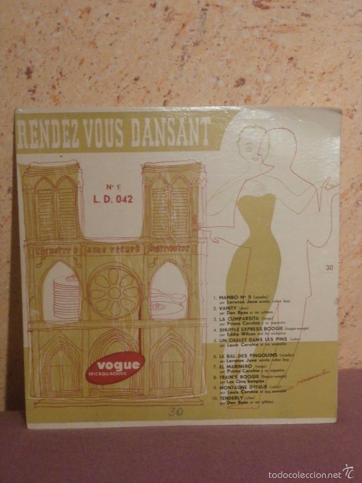 DISCO - VINILO - LP - RENDEZ - VOUS DANSANT - VARIOS ARTISTAS - VOGUE - AÑOS 50´S (Música - Discos - LP Vinilo - Canción Francesa e Italiana)
