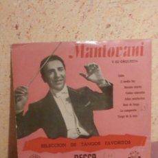 Discos de vinilo: DISCO - VINILO - LP - MANTOVANI Y SU ORQUESTA - SELECCIÓN TANGOS FAVORITOS - DECCA - AÑOS 50´S. Lote 58639069