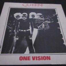 Discos de vinilo: QUEEN - ONE VISION - SN - EDICION INGLESA DEL AÑO 1985.. Lote 58641330