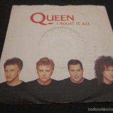 Discos de vinilo: QUEEN - I WANT IT ALL - SN - EDICION INGLESA DEL AÑO 1989.. Lote 58641540