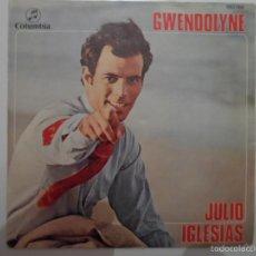 Discos de vinilo: ** JULIO IGLESIAS - GWENDOLYNE / BLA, BLA, BLA - SINGLE 1970 - LEER DESCRIPCIÓN. Lote 58641771