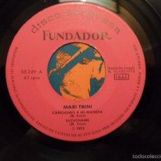 Discos de vinilo: ** MARI TRINI - CANCIONES A MI MANERA + 3 - EP AÑO 1972 - PROMO. Lote 58653536