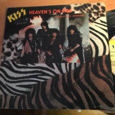 Discos de vinilo: KISS (HEAVEN'S ON FIRE) SINGLE ESPAÑA 1984 (EPI2). Lote 58661951