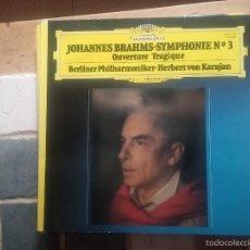 Discos de vinilo: BRAHMS - SINFONÍA NUM. 3. Lote 58662827