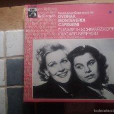 Discos de vinilo: ELISABETH SWARZKOFF / IRMGARD SEEFRIED - DUOS PARA SOPRANO. Lote 58662889
