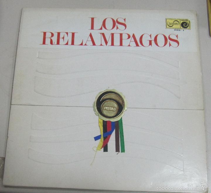 LP LOS RELAMPAGOS. PISTAS. ZAFIRO ZN 6 - 1. (Música - Discos - LP Vinilo - Grupos Españoles 50 y 60)