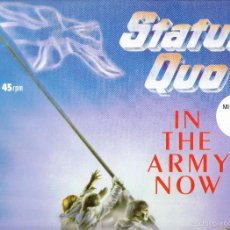 Discos de vinilo: STATUS QUO - MILITARY MIX - IN THE ARMY NOW. Lote 58663031