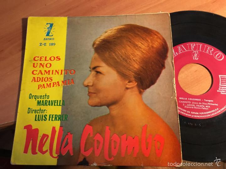 NELLA COLOMBO. TANGOS (CELOS +3) EP ESPAÑA 1960 (EPI2) (Música - Discos de Vinilo - EPs - Canción Francesa e Italiana)