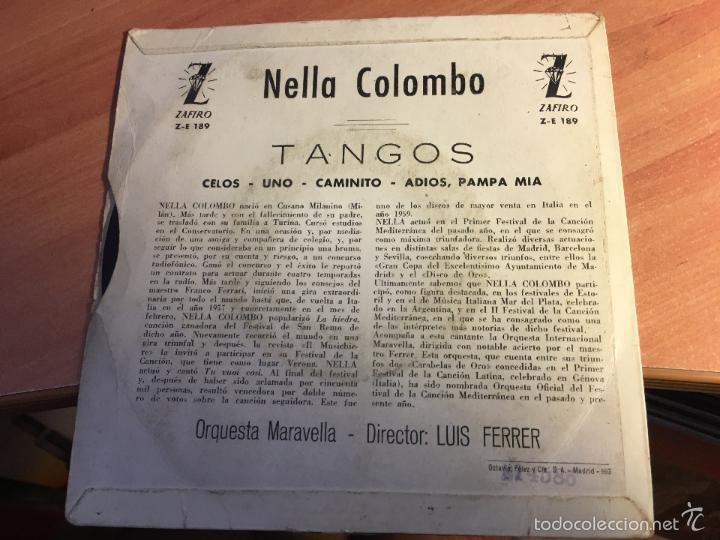 Discos de vinilo: NELLA COLOMBO. TANGOS (CELOS +3) EP ESPAÑA 1960 (EPI2) - Foto 3 - 58664272