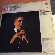 Discos de vinilo: BENNY GOODMAN (AMERICAN JAZZ & BLUES HISTORY VOL 29) LP ESPAÑA 1979 (VINF). Lote 58671401