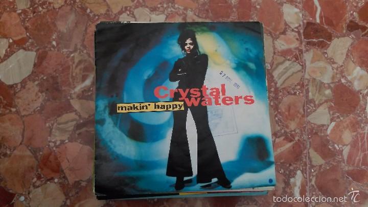 CRYSTAL WATERS ··· MAKIN' HAPPY (HURLEY'S HAPPY HOUSE MIX) / MAKIN'... - (SINGLE 45 RPM) - NUEVO (Música - Discos - Singles Vinilo - Techno, Trance y House)