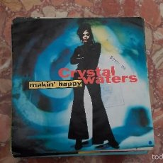 Disques de vinyle: CRYSTAL WATERS ··· MAKIN' HAPPY (HURLEY'S HAPPY HOUSE MIX) / MAKIN'... - (SINGLE 45 RPM) - NUEVO. Lote 58674288