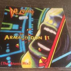 Disques de vinyle: DEF LEPPARD ARMAGGEDON IT 1988. Lote 58688683