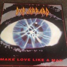 Disques de vinyle: DEF LEPPARD - MAKE LOVE LIKE A MAN 1992. Lote 58688829
