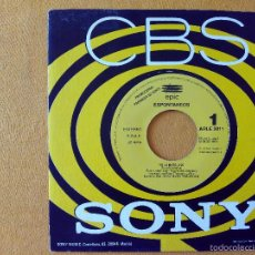 Discos de vinilo: ESPONTANEOS, YO LA MATO (CBS) SINGLE PROMOCIONAL 1 CARA. Lote 58689740