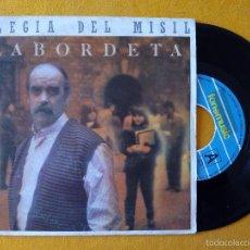 Discos de vinilo: LABORDETA, ELEGIA DEL MISIL (FONOMUSIC) SINGLE - LA TRINCA MANUEL CAMP. Lote 58700211