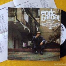 Discos de vinilo: ENRIC BARBAT, L'ENDEMA +3 (EDIGSA) SINGLE EP - LLETRES - EL MELIC CABARET D'ESQUERRES. Lote 58700261