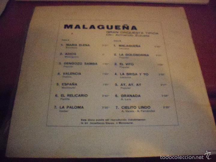 Discos de vinilo: Lp de Armando Zulueta (Gran orquesta tipica). Malaguña. Edicion Trebol de 1970. - Foto 2 - 58709380