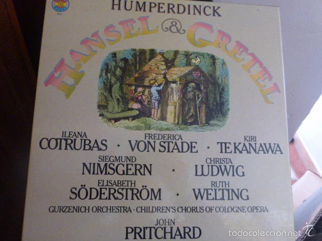 HANSEL & GRETEL, CAJA DON DOS DISCOS Y LIBRETO EN PERFECTO ESTADO PROCEDENTE DE ALEMANIA 1978 (Música - Discos - Singles Vinilo - Clásica, Ópera, Zarzuela y Marchas)