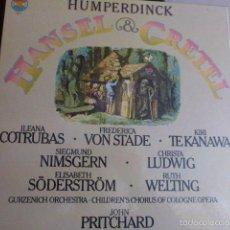 Discos de vinilo: HANSEL & GRETEL, CAJA DON DOS DISCOS Y LIBRETO EN PERFECTO ESTADO PROCEDENTE DE ALEMANIA 1978. Lote 58722298
