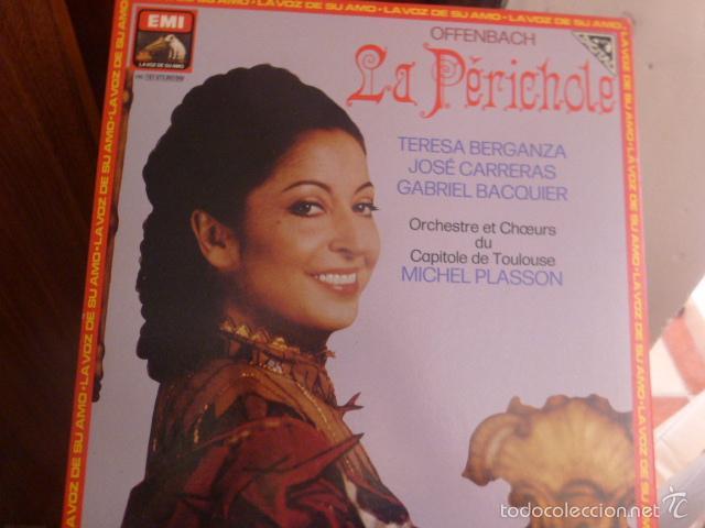 LA PERICHOLE, TERESA BERGANZA, JOSE CARRERAS Y GABRIEL BACQUIER, DOS DISCO EN CAJA CON LIBRETO 1982 (Música - Discos de Vinilo - Maxi Singles - Clásica, Ópera, Zarzuela y Marchas)