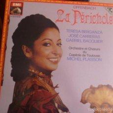 Discos de vinilo: LA PERICHOLE, TERESA BERGANZA, JOSE CARRERAS Y GABRIEL BACQUIER, DOS DISCO EN CAJA CON LIBRETO 1982. Lote 58722588
