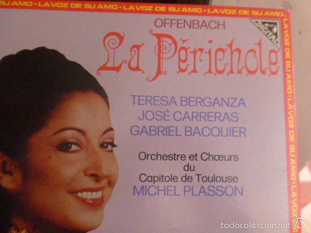 Discos de vinilo: LA PERICHOLE, TERESA BERGANZA, JOSE CARRERAS Y GABRIEL BACQUIER, DOS DISCO EN CAJA CON LIBRETO 1982 - Foto 3 - 58722588